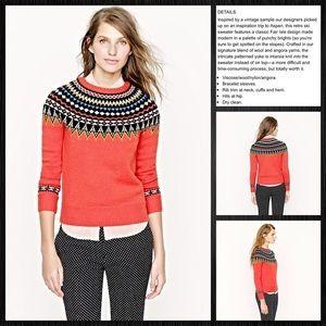 🛑Sold🛑Crew Fair Isle Ski Sweater Crew Neck 30054